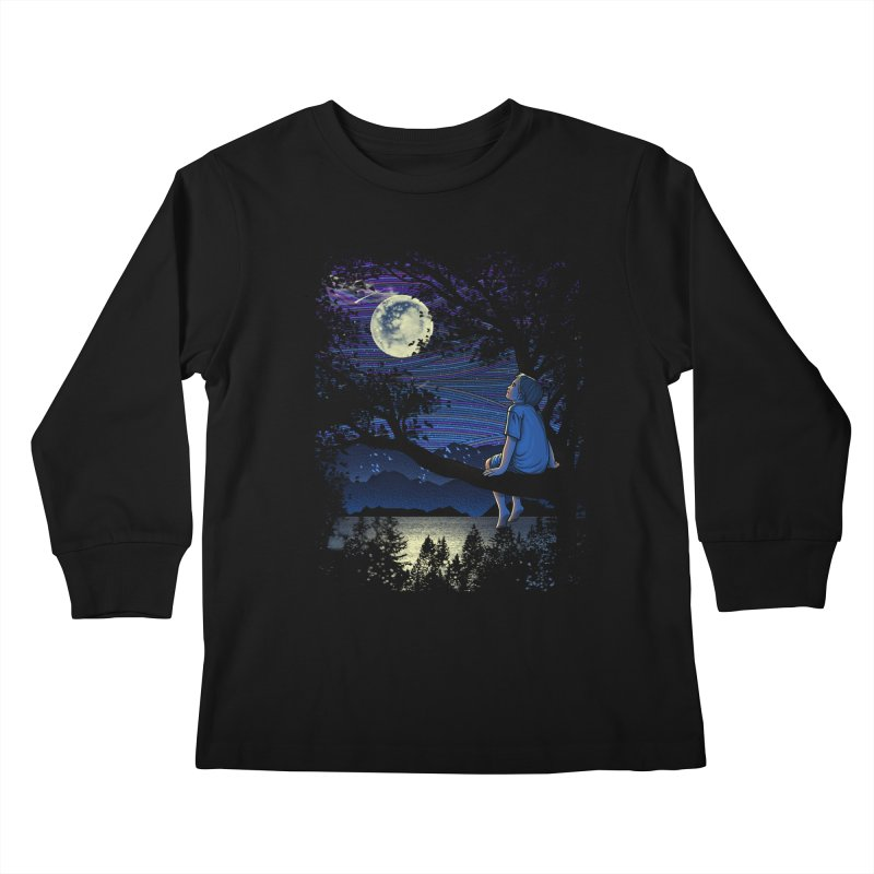 WISHFUL THINKING Kids Longsleeve T-Shirt by dzeri29's Artist Shop
