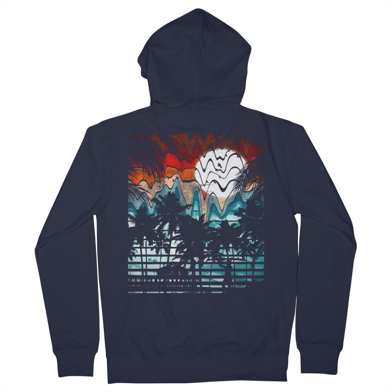 SUMMER MELTDOWN Men's Zip-Up Hoody by dzeri29's Artist Shop