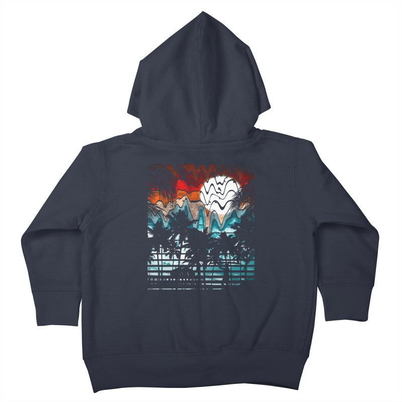 SUMMER MELTDOWN Kids Toddler Zip-Up Hoody by dzeri29's Artist Shop