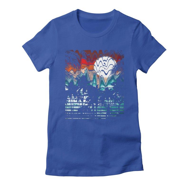 SUMMER MELTDOWN Women's Fitted T-Shirt by dzeri29's Artist Shop
