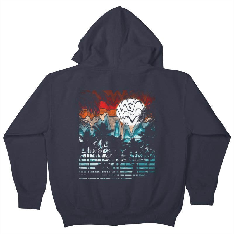 SUMMER MELTDOWN Kids Zip-Up Hoody by dzeri29's Artist Shop