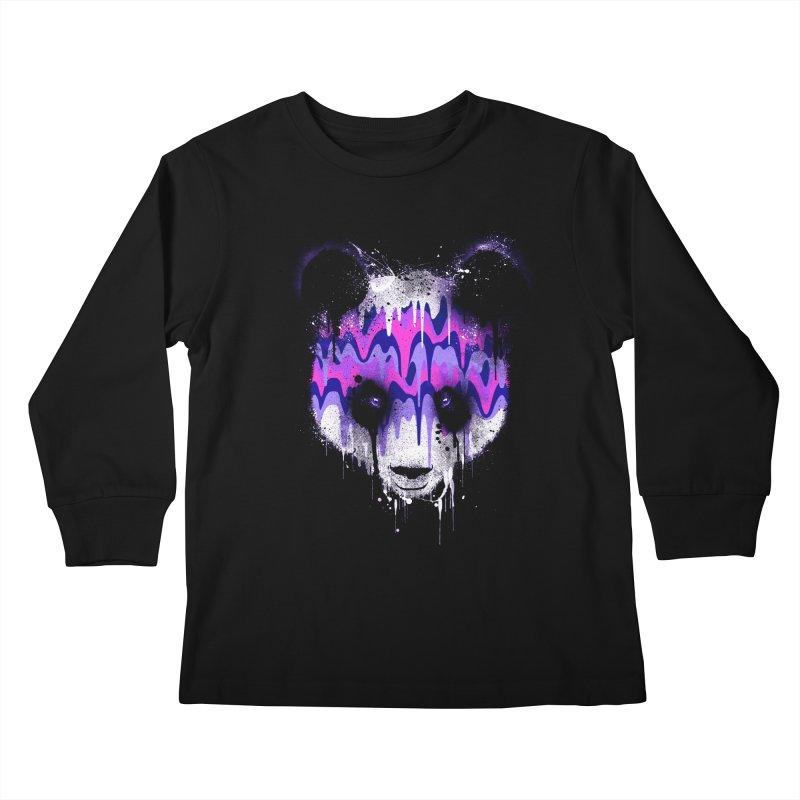 PANDA DRIP Kids Longsleeve T-Shirt by dzeri29's Artist Shop