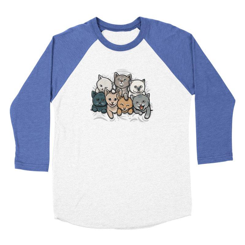 KITTENS Men's Baseball Triblend Longsleeve T-Shirt by dzeri29's Artist Shop