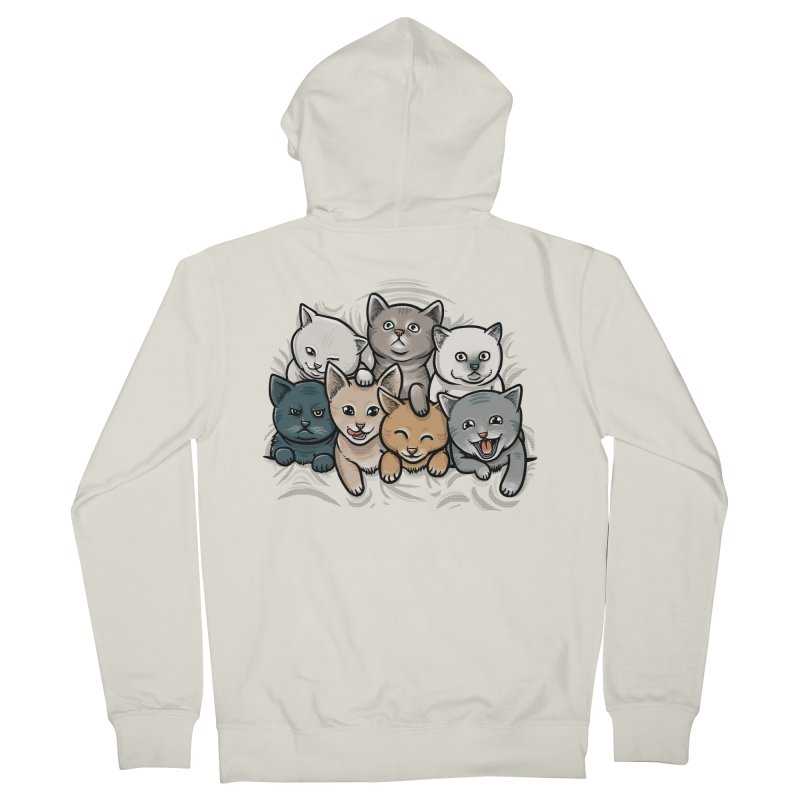 KITTENS Women's French Terry Zip-Up Hoody by dzeri29's Artist Shop