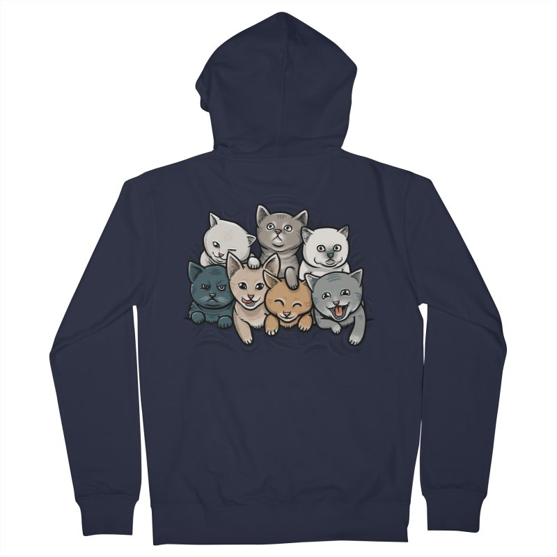 KITTENS Women's Zip-Up Hoody by dzeri29's Artist Shop