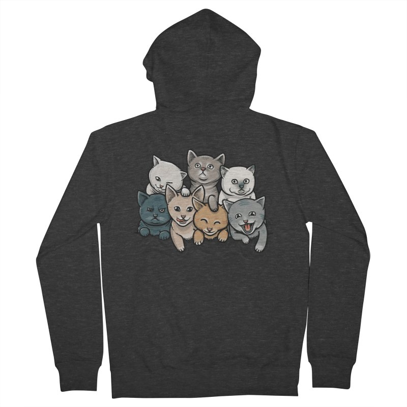 KITTENS Men's Zip-Up Hoody by dzeri29's Artist Shop
