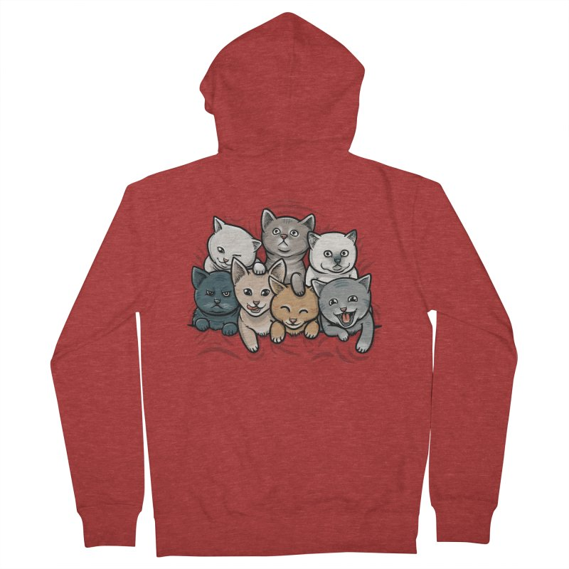 KITTENS Men's French Terry Zip-Up Hoody by dzeri29's Artist Shop