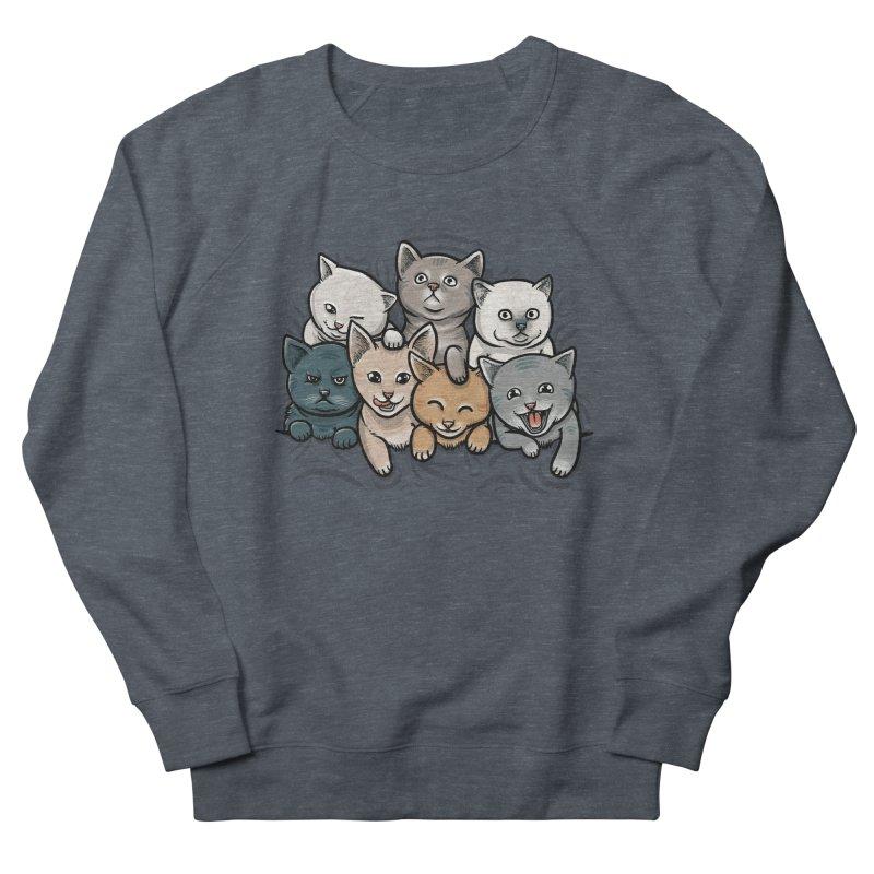 KITTENS Women's French Terry Sweatshirt by dzeri29's Artist Shop