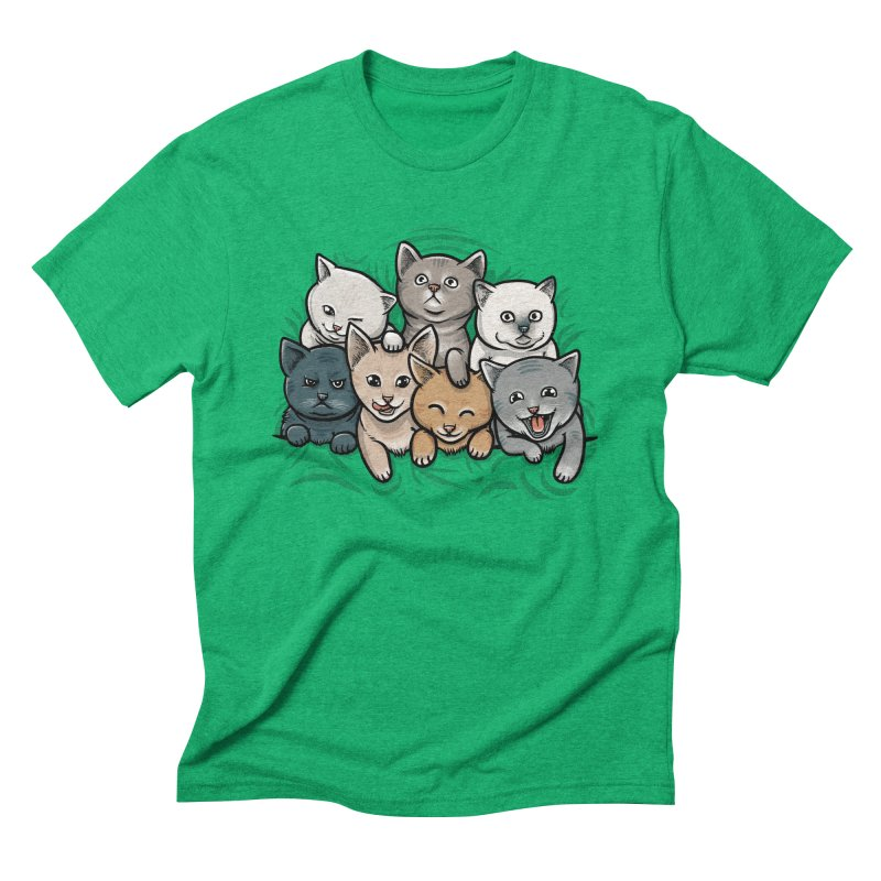KITTENS Men's Triblend T-Shirt by dzeri29's Artist Shop