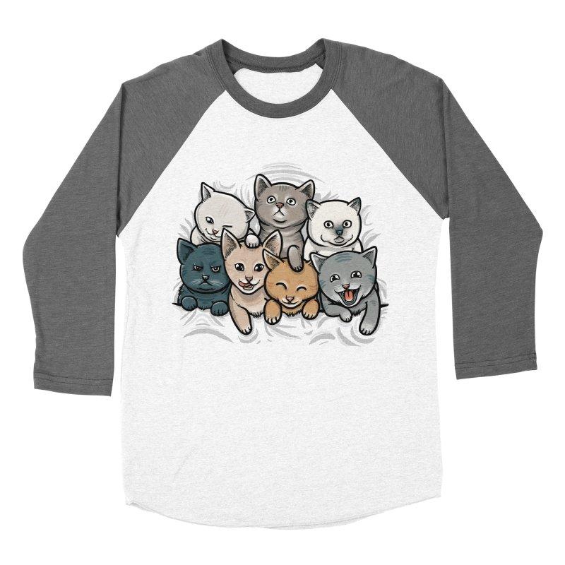 KITTENS Women's Baseball Triblend Longsleeve T-Shirt by dzeri29's Artist Shop