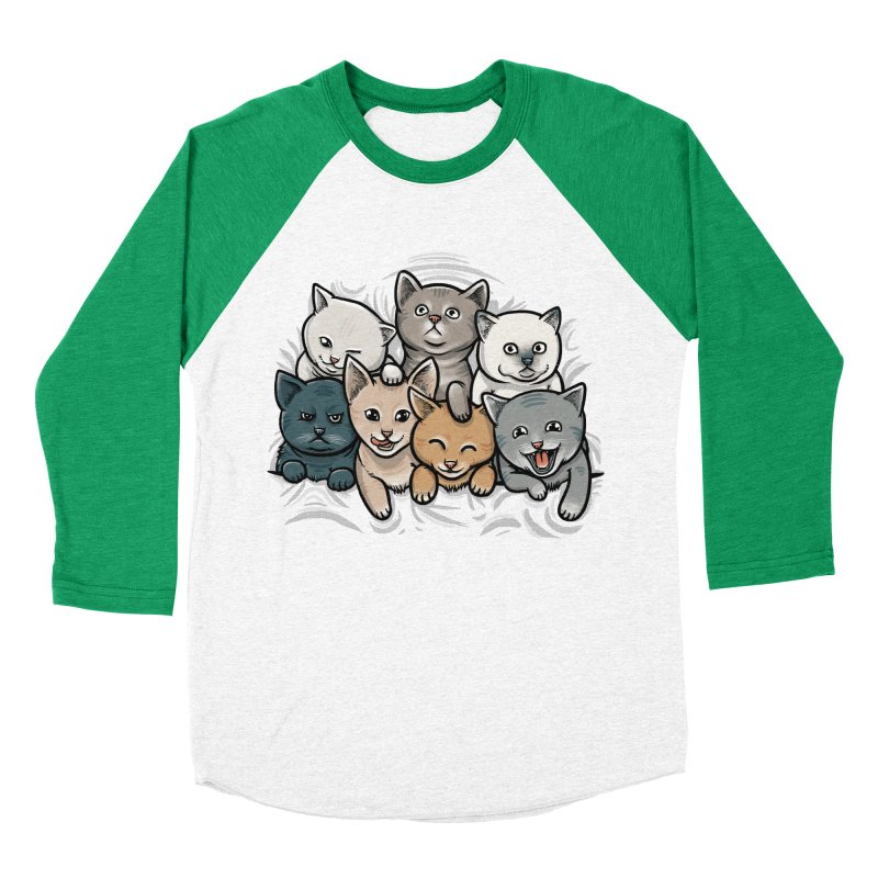 KITTENS Women's Baseball Triblend T-Shirt by dzeri29's Artist Shop