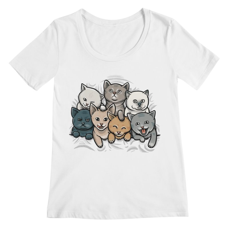 KITTENS Women's Regular Scoop Neck by dzeri29's Artist Shop
