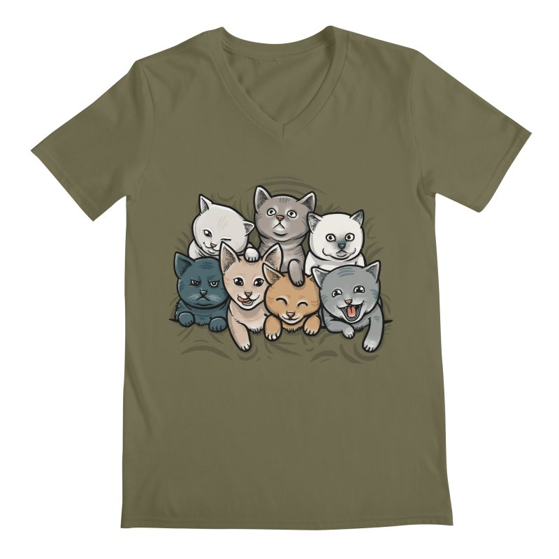 KITTENS Men's Regular V-Neck by dzeri29's Artist Shop