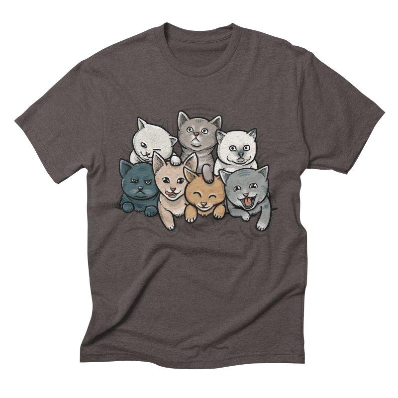 KITTENS Men's Triblend T-shirt by dzeri29's Artist Shop