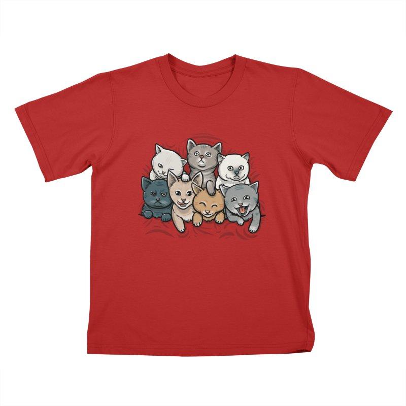 KITTENS Kids T-shirt by dzeri29's Artist Shop