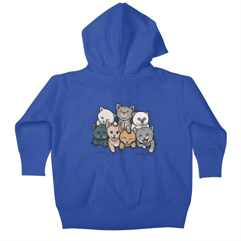 KITTENS Kids Baby Zip-Up Hoody by dzeri29's Artist Shop