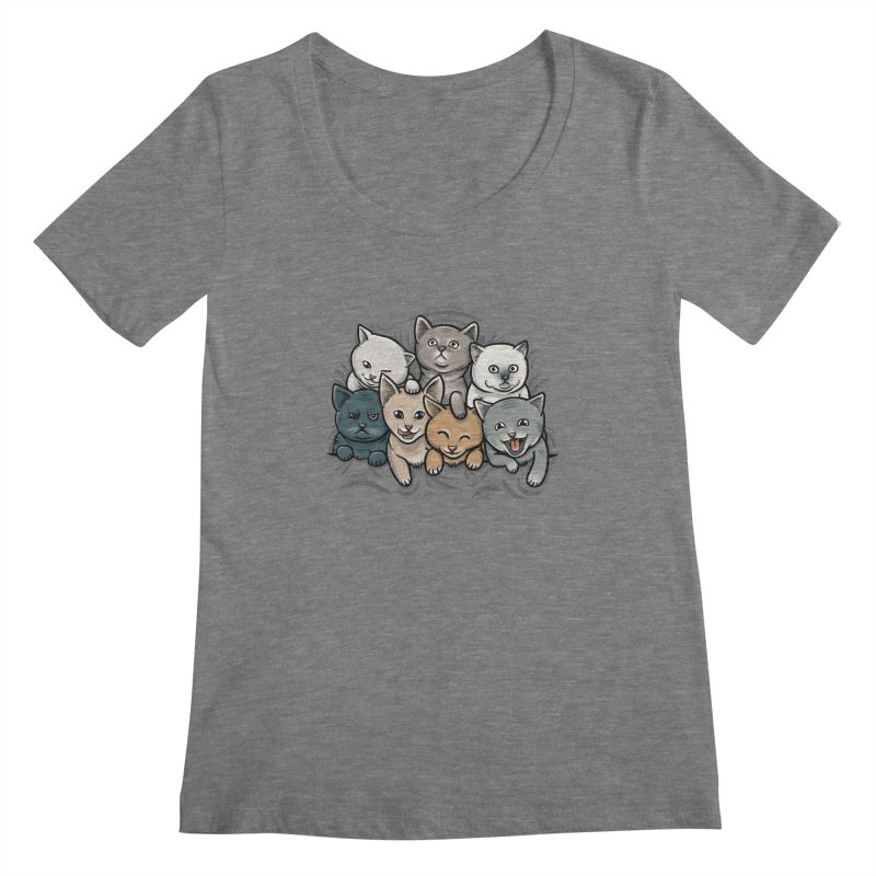KITTENS Women's Scoopneck by dzeri29's Artist Shop