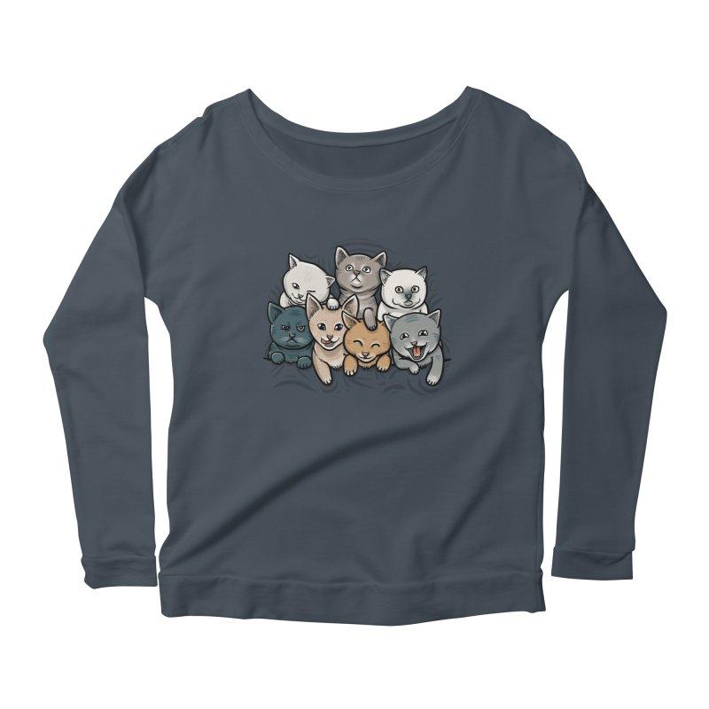 KITTENS Women's Scoop Neck Longsleeve T-Shirt by dzeri29's Artist Shop