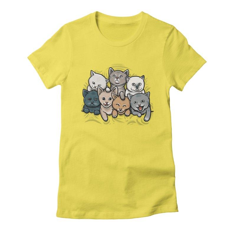 KITTENS Women's Fitted T-Shirt by dzeri29's Artist Shop