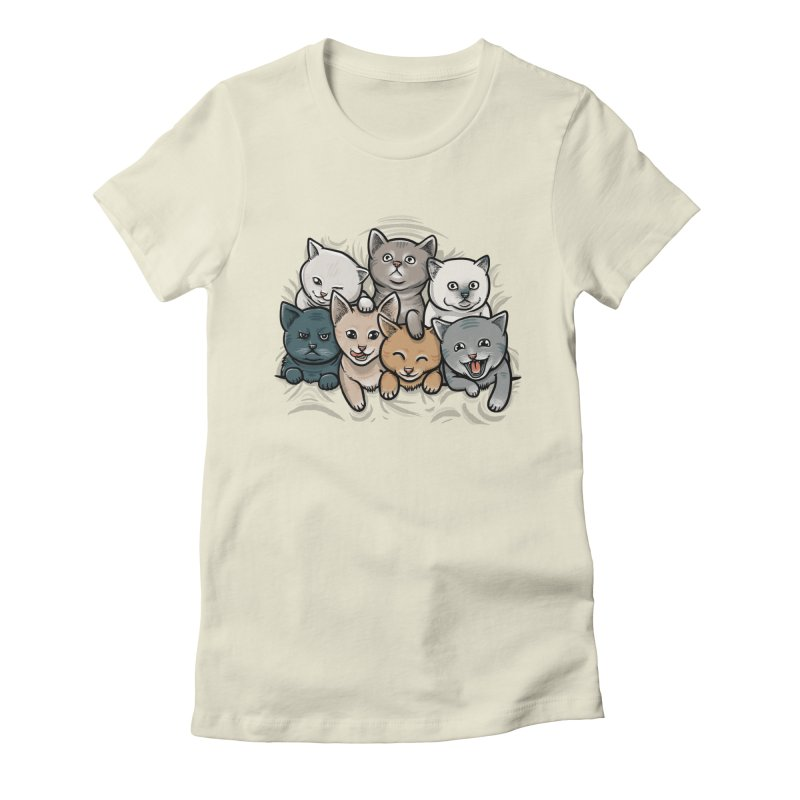 KITTENS Women's Fitted T-Shirt by dzeri29's Artist Shop