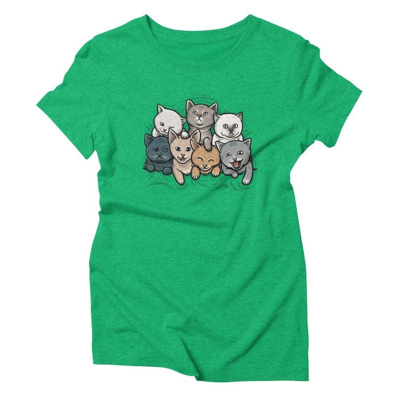 KITTENS Women's Triblend T-Shirt by dzeri29's Artist Shop