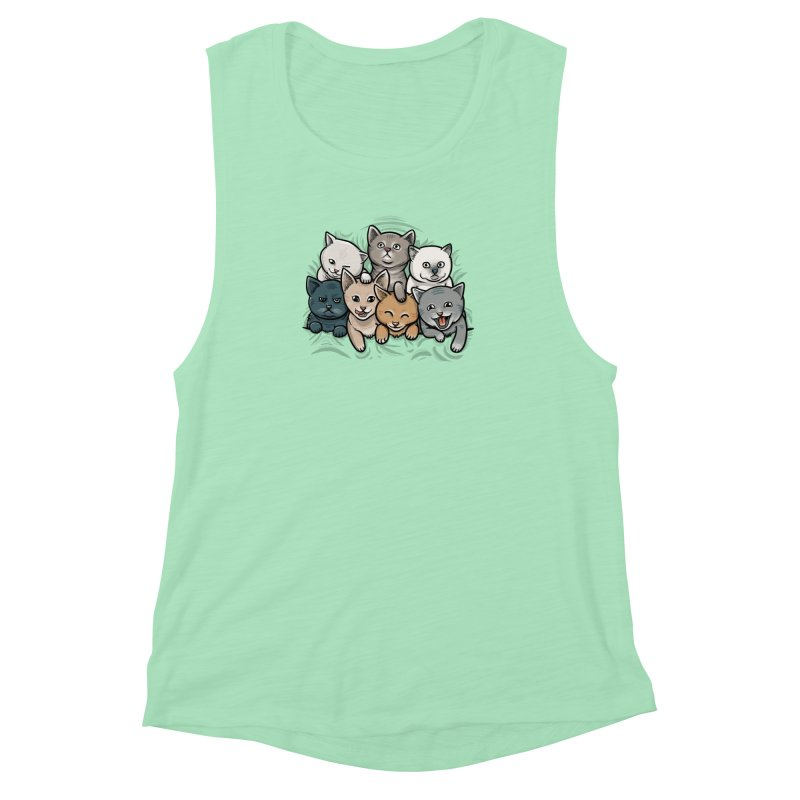 KITTENS Women's Muscle Tank by dzeri29's Artist Shop