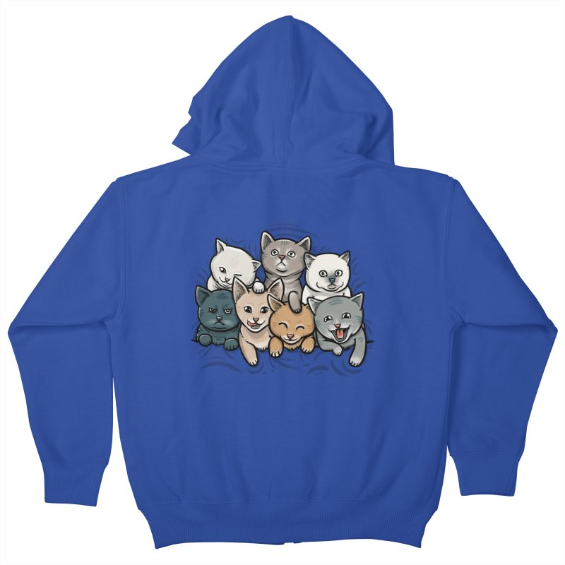 KITTENS Kids Zip-Up Hoody by dzeri29's Artist Shop