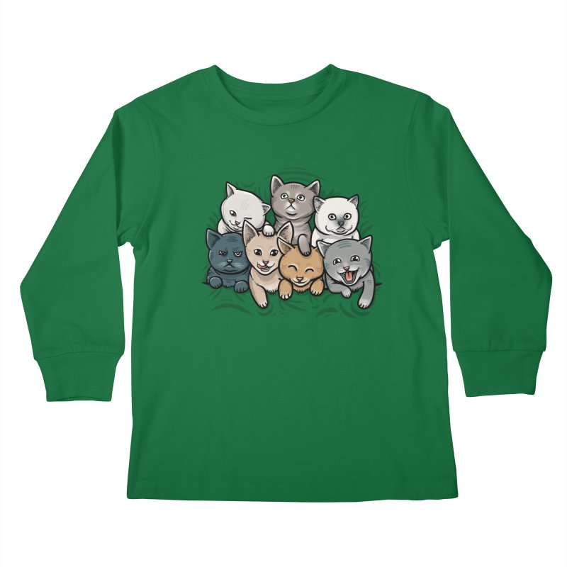 KITTENS Kids Longsleeve T-Shirt by dzeri29's Artist Shop