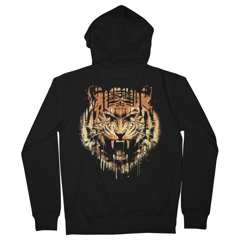 FEARLESS Men's Zip-Up Hoody by dzeri29's Artist Shop