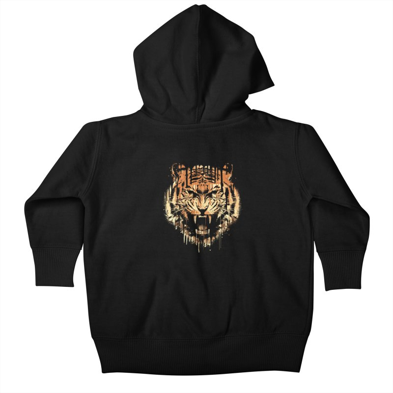 FEARLESS Kids Baby Zip-Up Hoody by dzeri29's Artist Shop