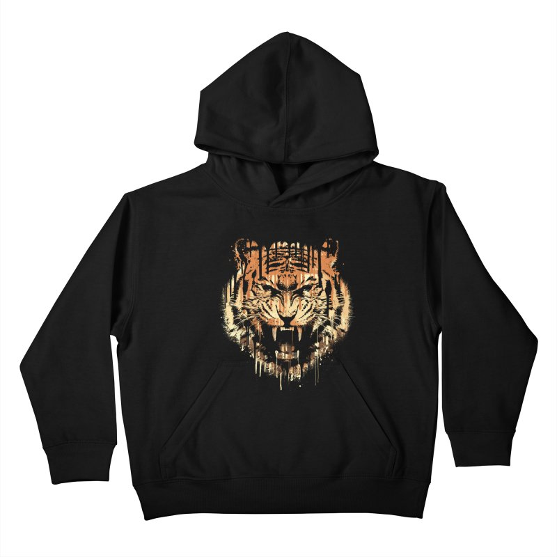 FEARLESS Kids Pullover Hoody by dzeri29's Artist Shop