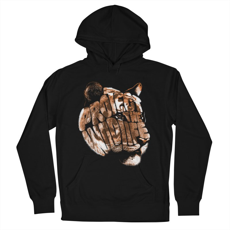 PROTECT THE WILDLIFE Men's French Terry Pullover Hoody by dzeri29's Artist Shop