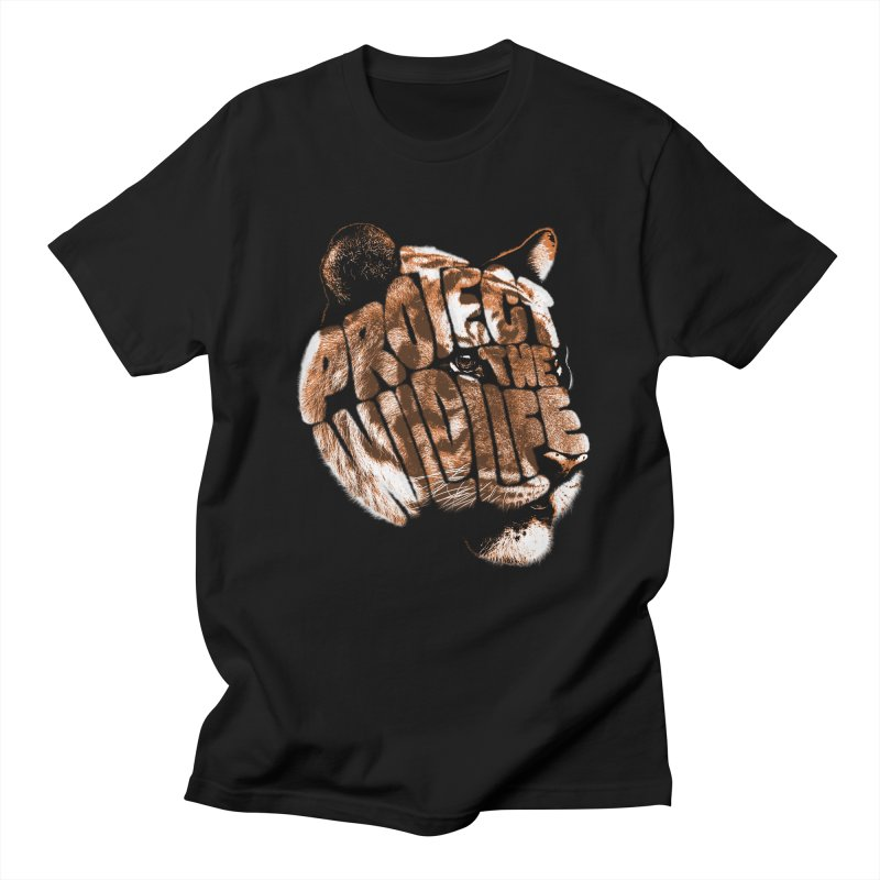 PROTECT THE WILDLIFE Men's T-Shirt by dzeri29's Artist Shop