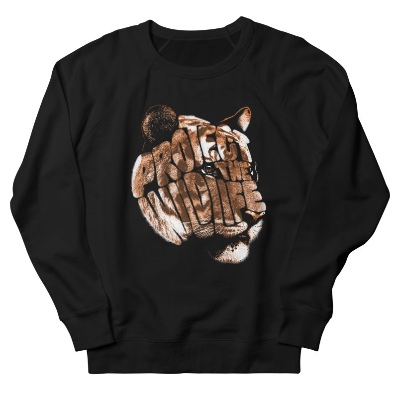 PROTECT THE WILDLIFE Men's French Terry Sweatshirt by dzeri29's Artist Shop