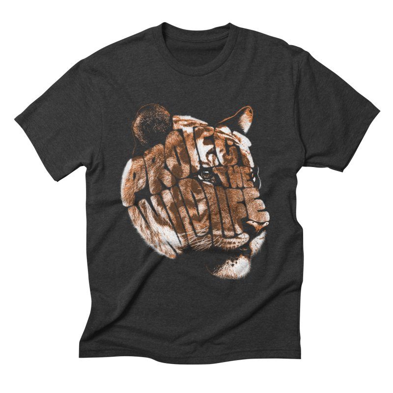 PROTECT THE WILDLIFE Men's Triblend T-shirt by dzeri29's Artist Shop