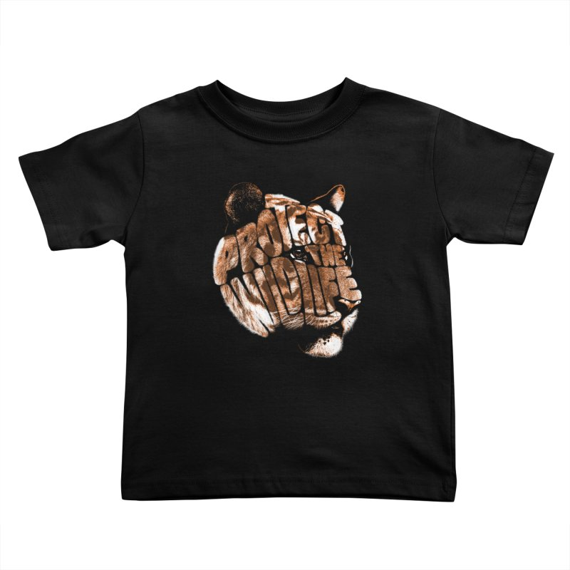 PROTECT THE WILDLIFE Kids Toddler T-Shirt by dzeri29's Artist Shop