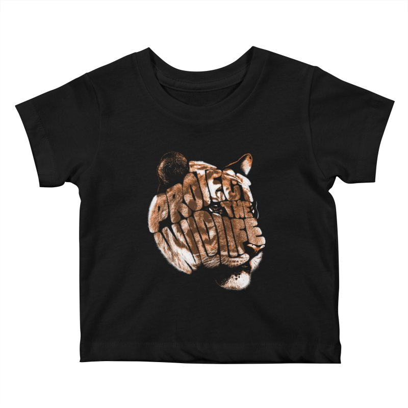 PROTECT THE WILDLIFE Kids Baby T-Shirt by dzeri29's Artist Shop