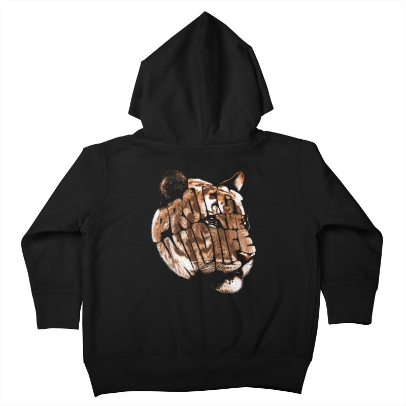 PROTECT THE WILDLIFE Kids Toddler Zip-Up Hoody by dzeri29's Artist Shop