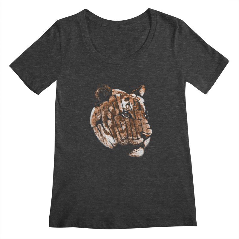 PROTECT THE WILDLIFE Women's Scoopneck by dzeri29's Artist Shop