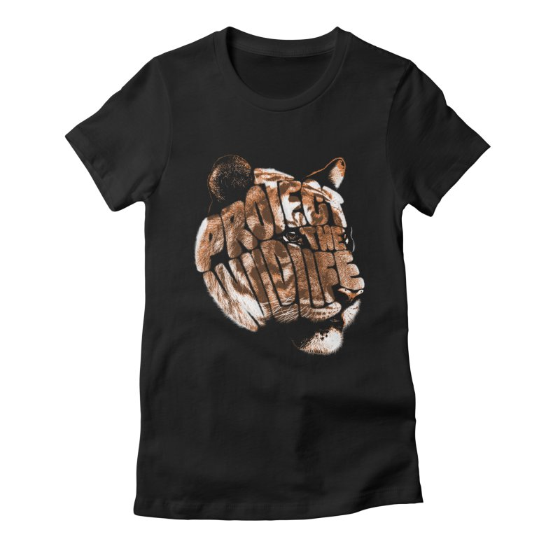 PROTECT THE WILDLIFE Women's Fitted T-Shirt by dzeri29's Artist Shop