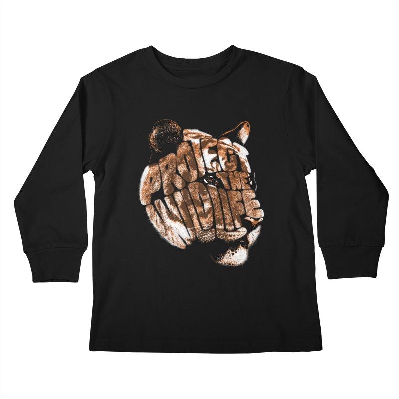 PROTECT THE WILDLIFE Kids Longsleeve T-Shirt by dzeri29's Artist Shop