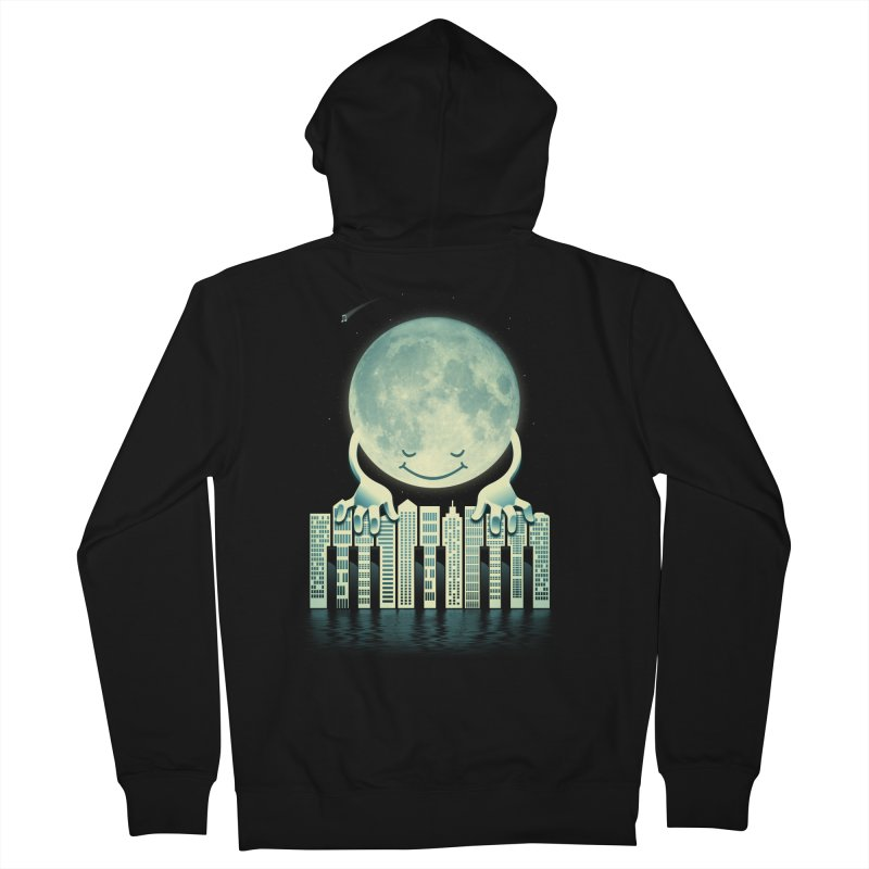 CITY TUNES Men's French Terry Zip-Up Hoody by dzeri29's Artist Shop