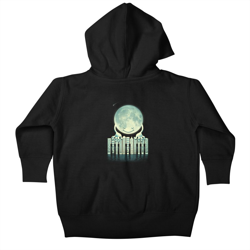 CITY TUNES Kids Baby Zip-Up Hoody by dzeri29's Artist Shop