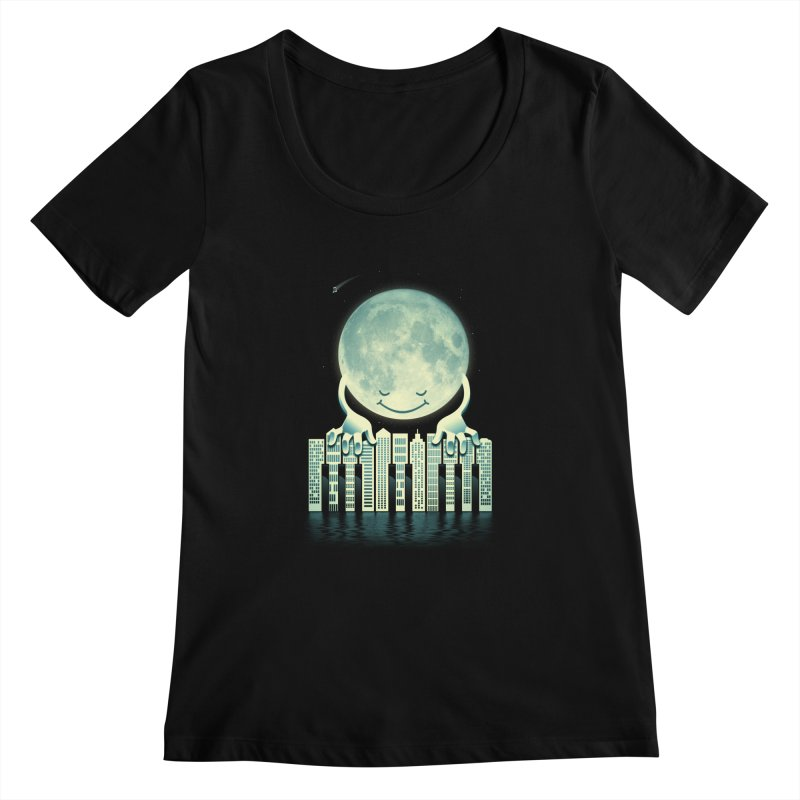 CITY TUNES Women's Scoopneck by dzeri29's Artist Shop
