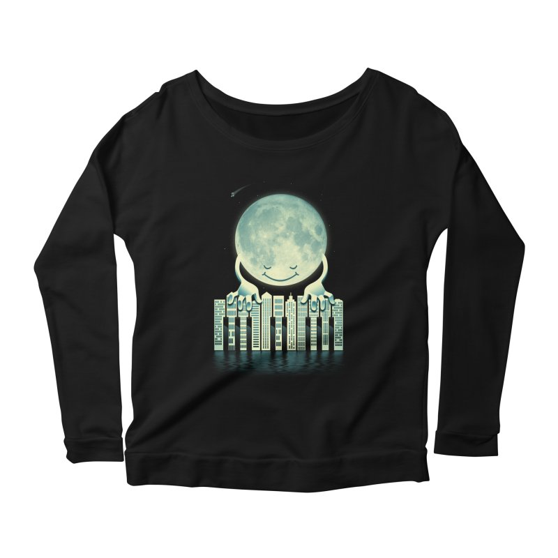 CITY TUNES Women's Longsleeve Scoopneck  by dzeri29's Artist Shop