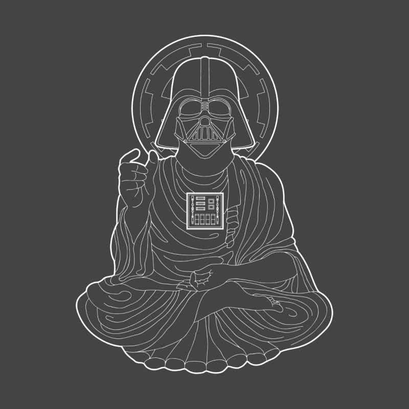 Darth Buddha Home Fine Art Print by dZus's Artist Shop
