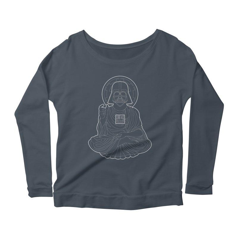 Darth Buddha Women's Scoop Neck Longsleeve T-Shirt by dZus's Artist Shop