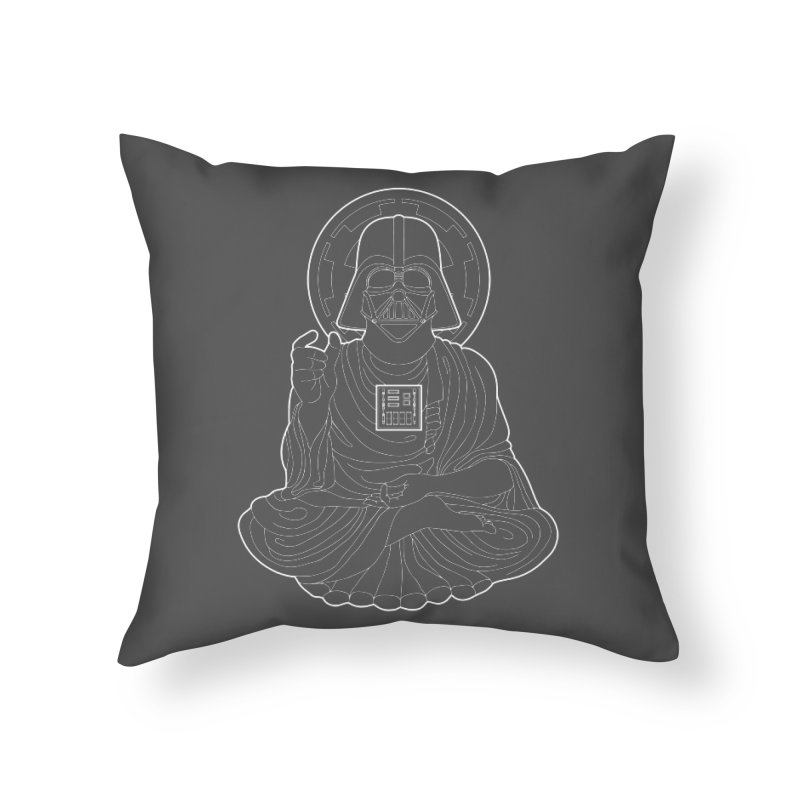Darth Buddha Home Throw Pillow by dZus's Artist Shop