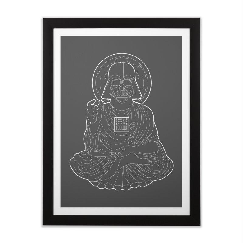 Darth Buddha Home Framed Fine Art Print by dZus's Artist Shop