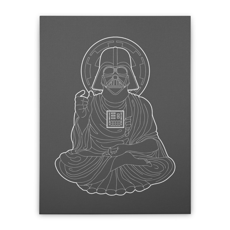 Darth Buddha Home Stretched Canvas by dZus's Artist Shop